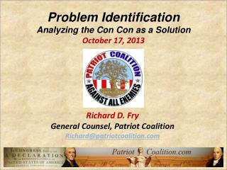 Problem Identification Analyzing the Con  Con  as a Solution October  17,  2013