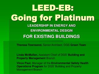 LEED-EB: Going for Platinum