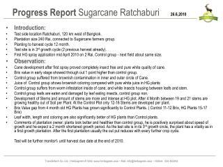 Progress Report  Sugarcane  Ratchaburi 26.6,2010