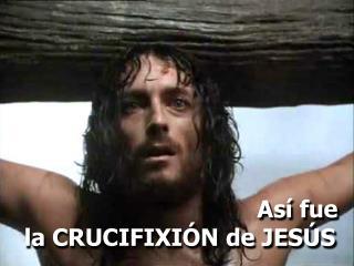 Así fue la CRUCIFIXIÓN de JESÚS