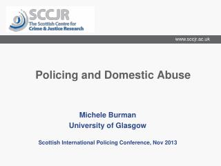 Policing and Domestic Abuse