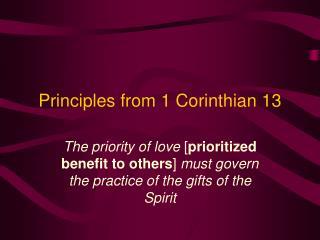 Principles from 1 Corinthian 13