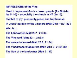 (9) Vines