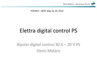 Elettra  digital control  PS