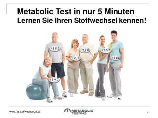 Metabolic Test in nur 5 Minuten Lernen Sie Ihren Stoffwechsel kennen!
