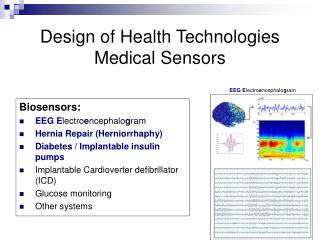 Design of Health Technologies Medical Sensors
