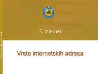 Vrste internetskih adresa