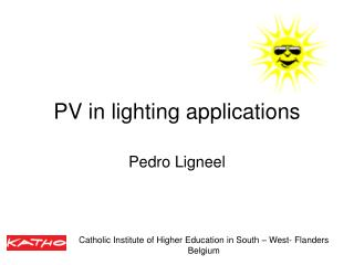 PV in lighting applications