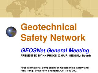 Geotechnical Safety Network