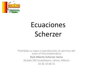 Ecuaciones Scherzer
