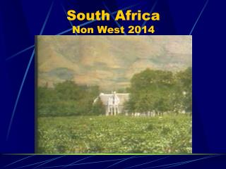 South Africa Non West 2014