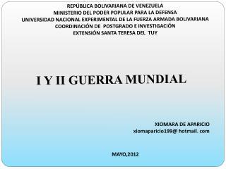REP�BLICA BOLIVARIANA DE VENEZUELA MINISTERIO DEL PODER POPULAR PARA LA DEFENSA