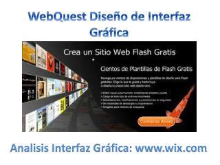WebQuest  Diseño de Interfaz Gráfica