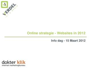 Online strategie - Websites in 2012