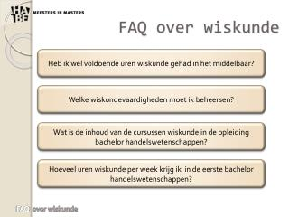 FAQ over wiskunde