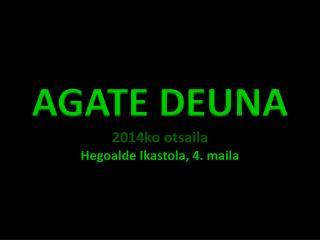 AGATE DEUNA 2014ko  otsaila Hegoalde  Ikastola, 4.  maila