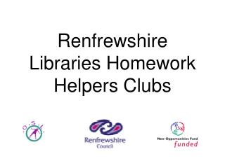 Renfrewshire Libraries Homework Helpers Clubs