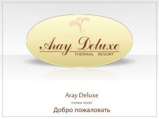 Aray Deluxe  THERMAL RESORT Добро пожаловать