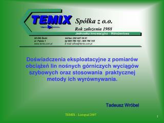 TEMIX - Listopad 2007