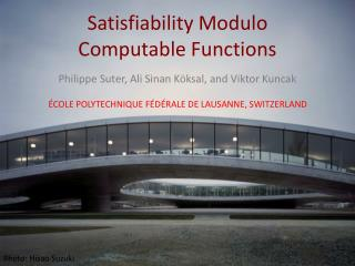 Satisfiability Modulo Computable Functions