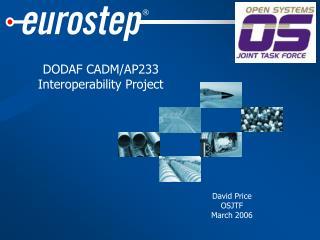 DODAF CADM/AP233 Interoperability Project