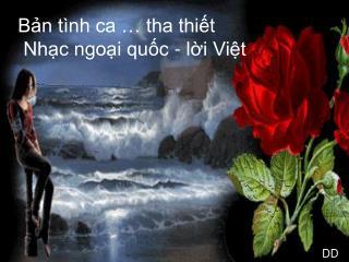 Bản tình ca … tha thiết  Nhạc ngoại quốc - lời Việt