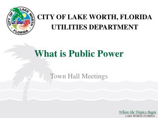 What is Public Power
