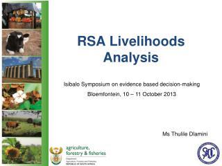 RSA Livelihoods Analysis