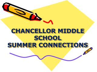 CHANCELLOR MIDDLE SCHOOL  SUMMER CONNECTIONS