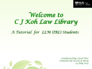 A Tutorial  for  LLM (IBL) Students