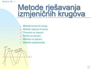 Metode rješavanja izmjeničnih krugova