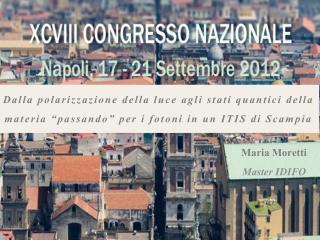 Maria Moretti Master IDIFO