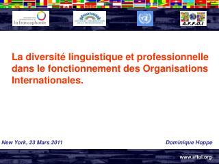La diversité linguistique et professionnelle dans le fonctionnement des Organisations