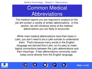 Powerpoint abbreviation