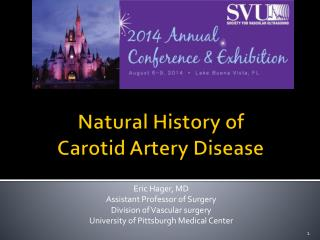 Natural History of  Carotid Artery Disease