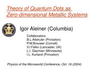 Igor Aleiner (Columbia)