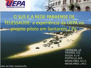 O SUS E A REDE PARAENSE DE TELESSAÚDE: a experiência da UEPA no projeto piloto em Santarém /  Pa .