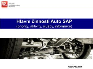 Hlavní činnosti Auto SAP (priority, aktivity, služby, informace)