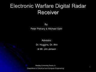 Electronic Warfare Digital Radar Receiver