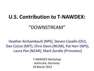 """U.S. Contribution to T-NAWDEX: """"DOWNSTREAM"""""""