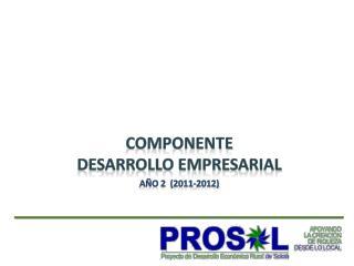 COMPONENTE  Desarrollo Empresarial