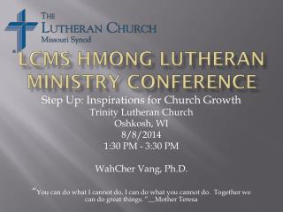 LCMS Hmong Lutheran Ministry conference