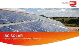 Smart Systems for Solar Power - worldwide