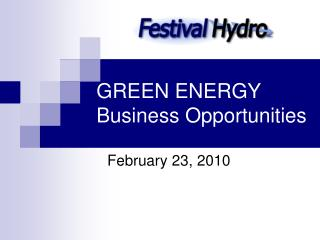 GREEN ENERGY Business Opportunities