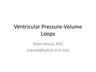 Ventricular Pressure-Volume Loops
