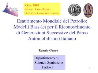 Dipartimento di  Scienze Statistiche         Padova