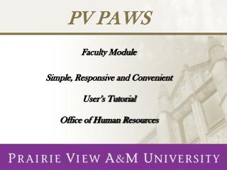 PV PAWS