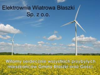 Elektrownia Wiatrowa Błaszki Sp. z o.o.