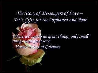 The Story of Messengers of Love –  Tet's Gifts for the Orphaned and Poor