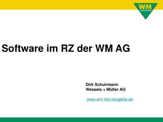 Dirk Schuirmann Wessels + Müller AG wm-fahrzeugteile.de